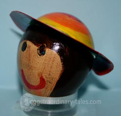 Annette C-B's beautiful rainbow hat