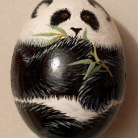 painted panda egg