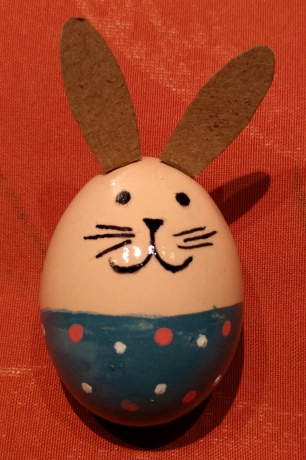 bunny egg with ears
