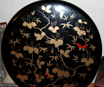 Japanese lacquerware plate